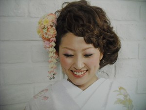 結婚式着物花飾り